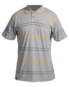 SA Rugby Short Sleeve Pique Golfer Charcoal