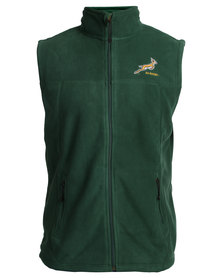 SA Rugby Polar Fleece Gilet Green