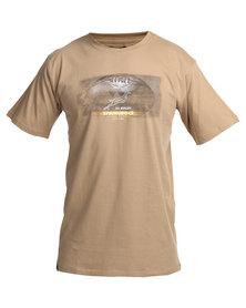 SA Rugby Short Sleeve Printed Tee Khaki