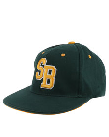 SA Rugby Flat Bill With Elasticated Back Cap Green