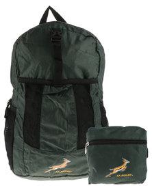 SA Rugby Mini Back Pack Black