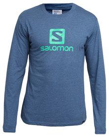Salomon Achieve Long Sleeve T-Shirt Blue
