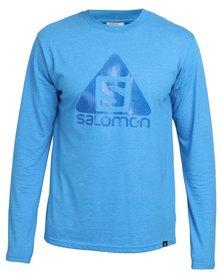 Salomon Won It Once Long Sleeve T-Shirt Blue