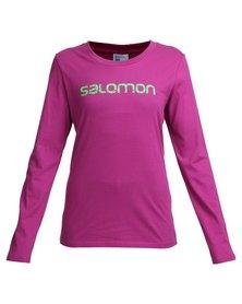Salomon Crest T-Shirt Purple