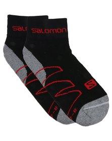 Salomon Crossover Socks Black/Grey