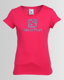 Salomon Enigma Short Sleeve T-Shirt Pink