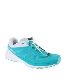 Salomon Sense Pro 2 Trail Running Shoes Teal/White