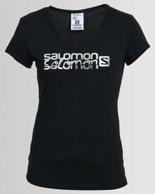 Salomon Lady Danger Short Sleeve T-Shirt Black