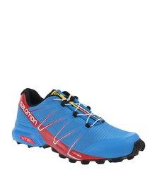 Salomon Speedcross Pro Trail Running Shoes Blue/Red