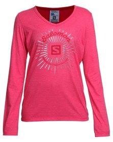 Salomon Hunting Long Sleeve T-Shirt Pink