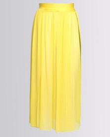 SALT Wrap Beach Maxi Skirt Yellow