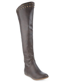 Santorini Over-the-Knee Boots Brown