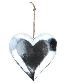 Sarongi Wooden Heart Silver