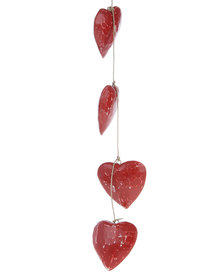 Sarongi Hanging Heart Strings Red