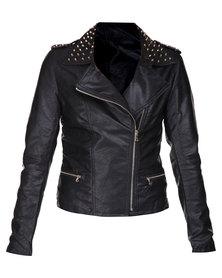 Sass Roxie Stud Jacket Black