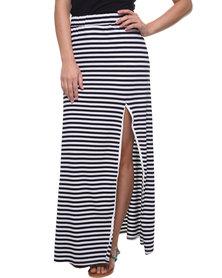 Sass Miranda Maxi Skirt Black and White