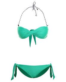 Scarlett Bandeau Bikini Green