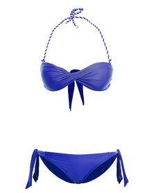 Scarlett Bandeau Bikini Royal Blue
