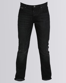 Scrubber Dark Denim Jeans Black