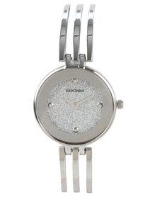Sekonda Clean Bar Bangle Strap Watch Silver-Tone