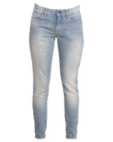 Selected Roberta LW Jeans Light Blue