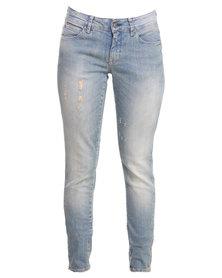 Selected Roberta LW Jeans Light Blue
