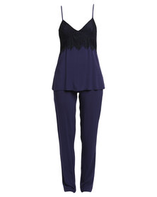 Serenade Lace Detailed Sleepwear Set Blue