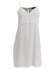 Serenade Lace Detailed Chemise Cream