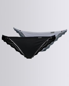 She Bear Scarlett 2 Pack Brazillian Panty Limited Edition Multi