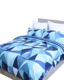 Sheraton Blue Fierce Print Duvet Cover Set