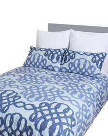 Sheraton Splendid Duvet Cover Set Blue