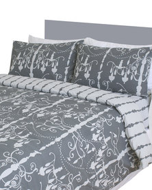 Sheraton Chandelier Duvet Cover Set Grey