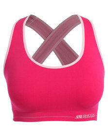 Shock Absorber Reversible Seamless Crop Top Pink