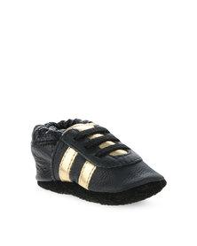 Shooshoos Black/Gold Sports Pump Black