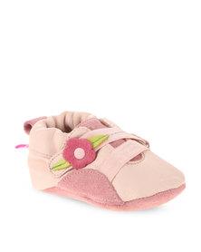 Shooshoos Pink Flower Wrap Pump Pink