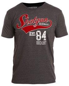 Shotgun Crew T-Shirt Charoal