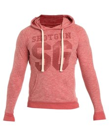 Shotgun Pull-Over Hood Sweatshirt Red