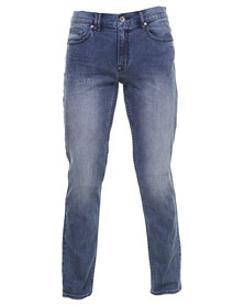 Silent Theory Ace Tapered Skinny Jeans Light Blue