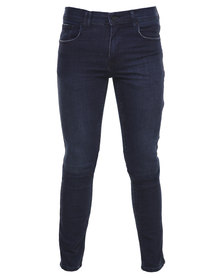 Silent Theory Deuce Skinny Jeans Dark Blue