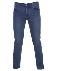 Silent Theory Deuce Skinny Jeans Blue