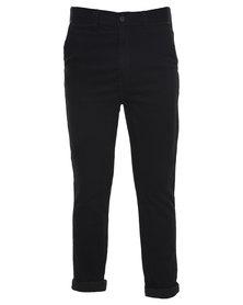 Silent Theory Strutta Drop Skinny Jeans Black