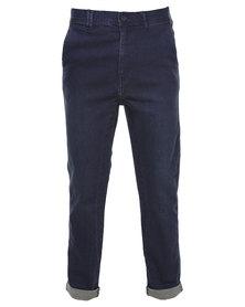 Silent Theory Strutta Drop Skinny Jeans Dark Blue