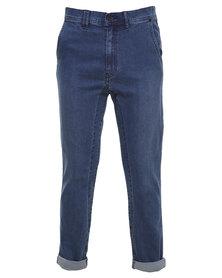 Silent Theory Strutta Drop Skinny Jeans Blue