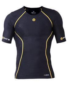 Skins A200 Mens Short Sleeve Top Black