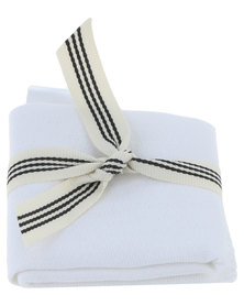 SKOON. 3 Pack Muslin Face Cloth White
