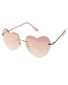 SKYE London Love Hearts Sunglasses Pink