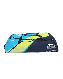 Slazenger Cricket Bag Elite Wheelie Blue