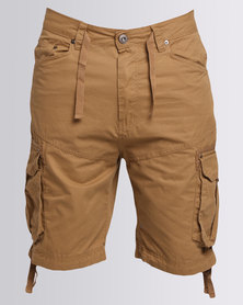Smith & Jones Mens Springer Cargo Short Butterscotch