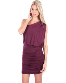 Soto Bianca Dress Burgundy