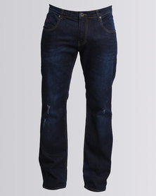 Soviet Tony #6 Bootleg Jeans Dark Blue